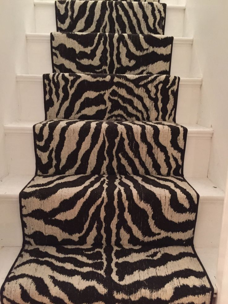 #zebra_print #animal_print_stair_runner