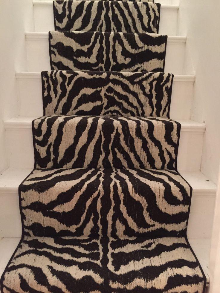 #zebra_print #animal_print_stair_runner