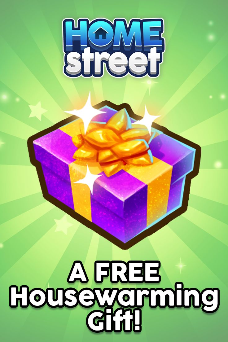 Get 4 exclusive decor items FREE!    24 hours after completing the Home Street tutorial, you can collect your gifts by tapping on the purple gift box at the side of your game screen.   Have you collected your Housewarming Gifts yet?