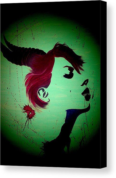 Starsigns Canvas Print featuring the digital art Capricorn by Nella Kent