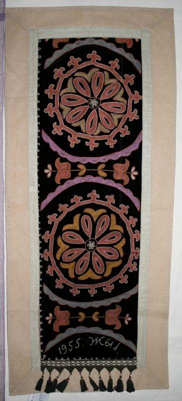 Панно - ручная старинная вышивка 1955 год