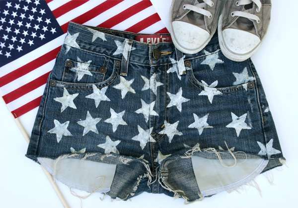 This Fashion Drug 'Star Shorts' Tutorial is Patriotic and Ready for Summer #Bonnaroo #Coachella