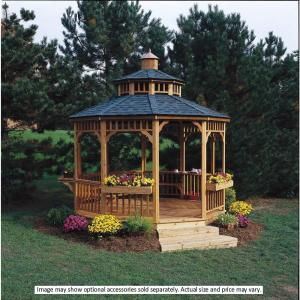 Handy Home Products 10 ft. San Marino Round Gazebo-19944-8 at The Home Depot