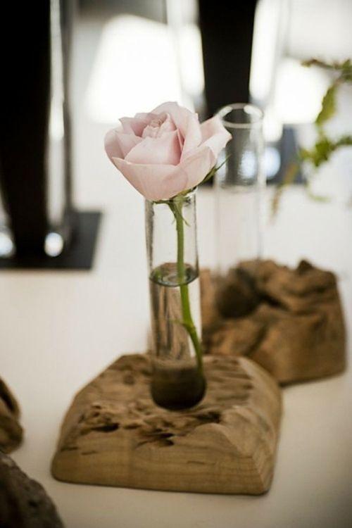 Le bois flott en d co 52 id es originales rustique for Vase en bois flotte