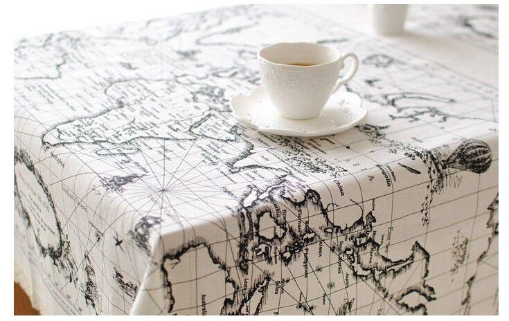 Главная европа стиль скатерть, Столовая крышка, Хлопок белье кухня еда квадратный стол обложка Retangle кофе , чай средиземноморская карта купить на AliExpress