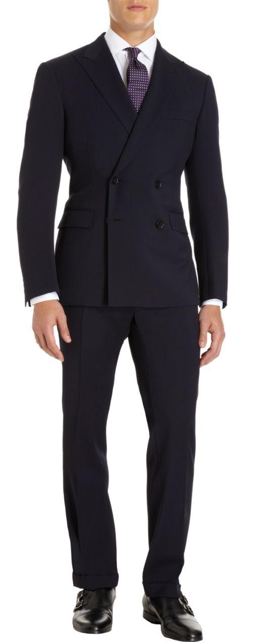 """menswear l suit for men l Ralph Lauren Black Label Two-Piece Double Breasted Suit l Dapper Guy Style / #clothes l #fashion l #menswear - Eu que não gosto de """"jaquetão"""" é assim que se fala? tenho que concordar, esse está lindo."""