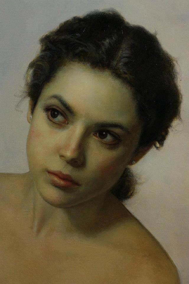 "MiaFeigelson ""Prenda Intima"" [détail] par César Santos, Cuban-born American Artist (b. 1982)  oil on linen"