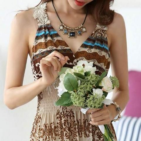Bohemian Maxi Sun Dress