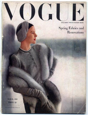 British Vogue March 1945 Spring Fabrics and Renovations