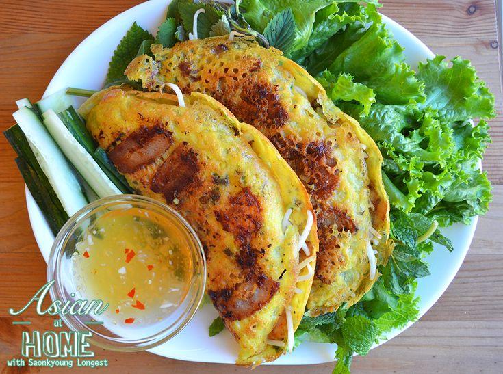 Bánh Xèo Vietnamese Sizzling Crepes : Banh Xeo Recipe : How To Make Banh Xeo : How to Eat Banh Xeo   Asian at Home