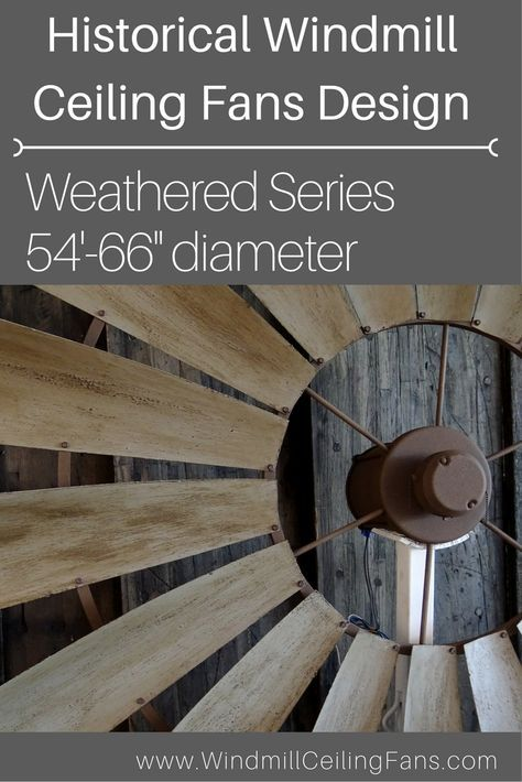 The Living Room That Has Rustic Decor Needs A Historically Designed Windmill Ceiling Fan With