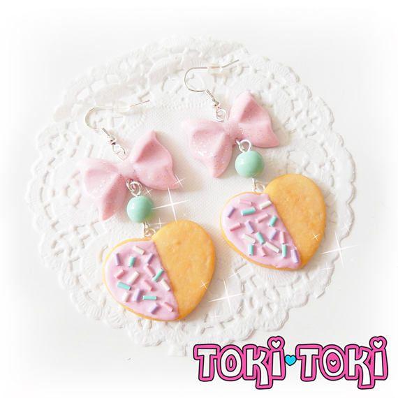 Pendientes galletas miniatura alimentos joyería alimentos
