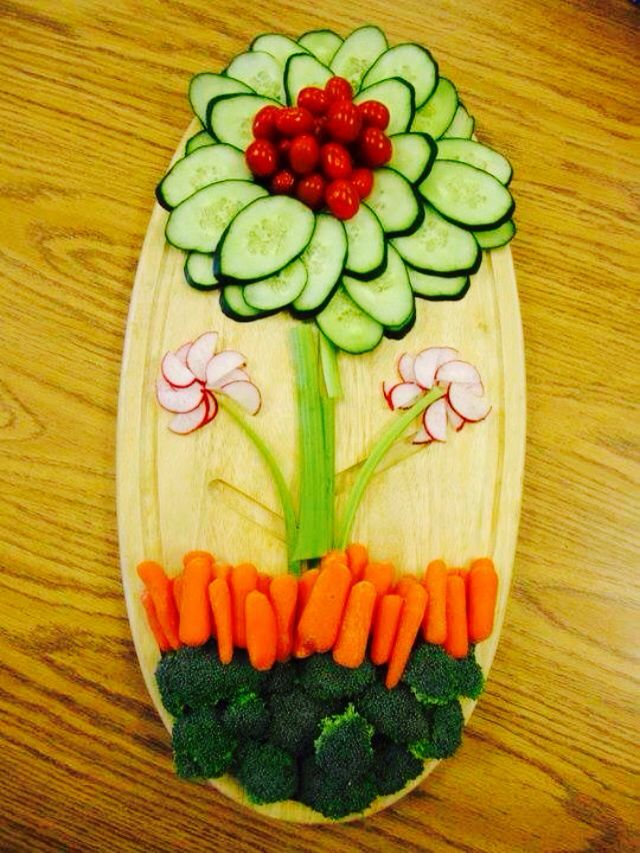 Creative Fruit Amp Veggie Flower Plate Recipes Pinterest