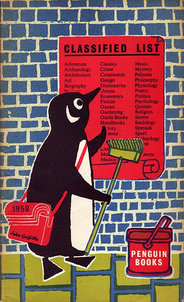 John Griffiths's Penguin Classified List from 1958