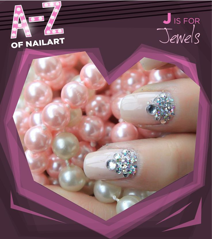 J is for Jewels. #A-ZNailArt
