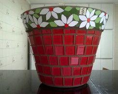 Vaso em mosaico - pronta entrega