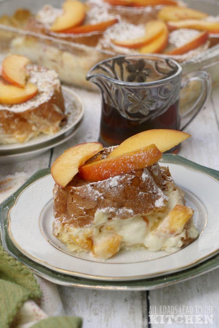 ... peach cinnamon infused cream stuffed exploring culture forward peaches