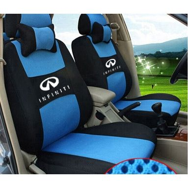 (81.58$)  Watch here  - grey/red/beige/blue Embroidery logo Car Seat Cover Front&Rear complete 5 Seat For infiniti q50 q70 esq qx ex jx fx Four Seasons