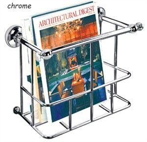 chrome magazine rack wall mounted | Wall Mount Bathroom Magazine Holder