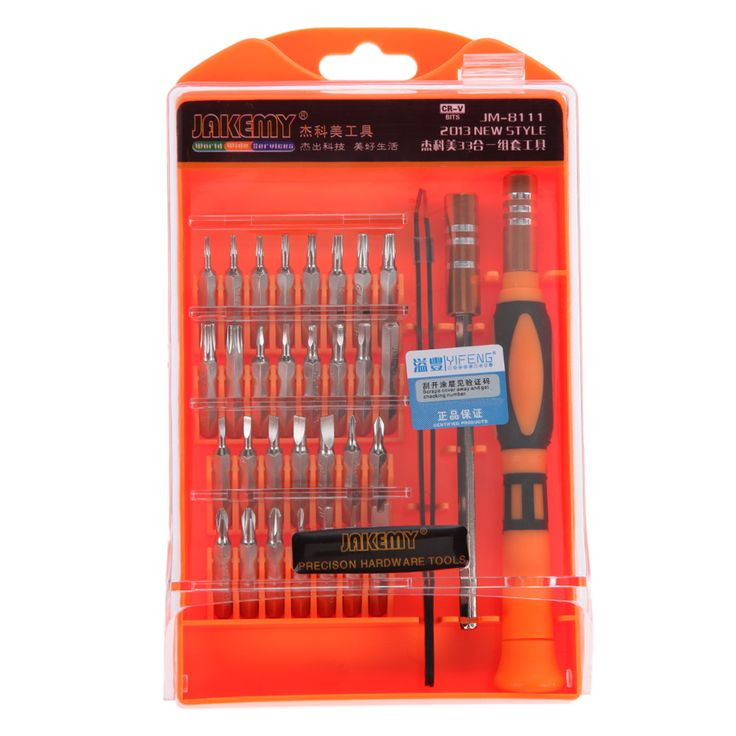 33 in 1 Interchangeable Precision Screwdriver Set Magnetic Screwdriver Kit Repair Tools for Laptops Mobile Devices Wristwatches