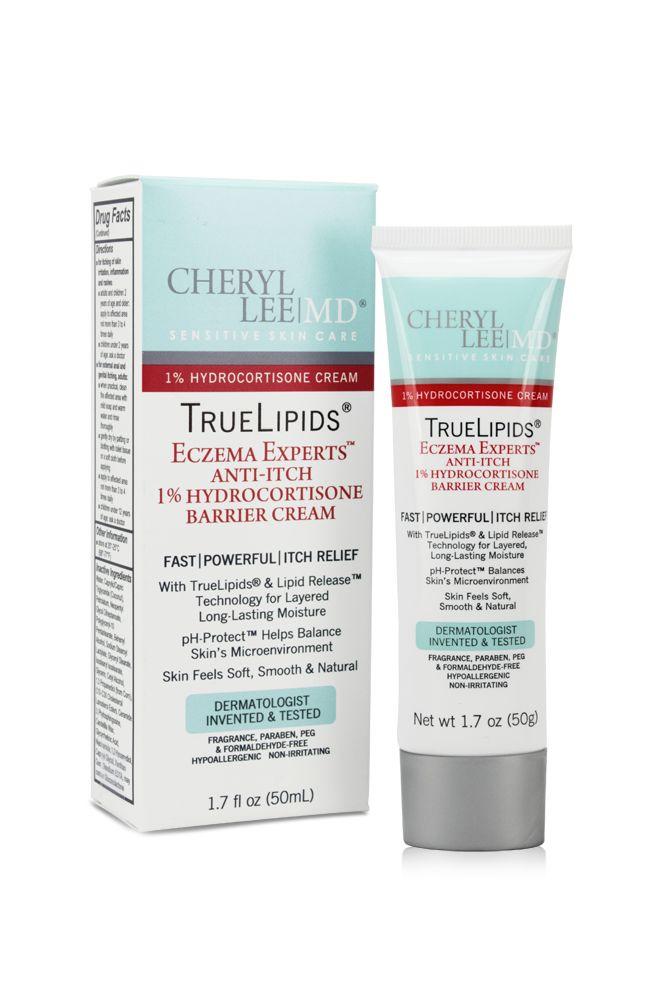 TrueLipids Eczema Experts Anti-Itch 1% Hydrocortisone Barrier Cream - Cheryl Lee MD Sensitive Skin Care - 1