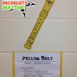 What Belt Are You? Recorder Karate Hallway Display