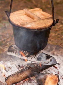Wood ashes as a soil fertilizer.