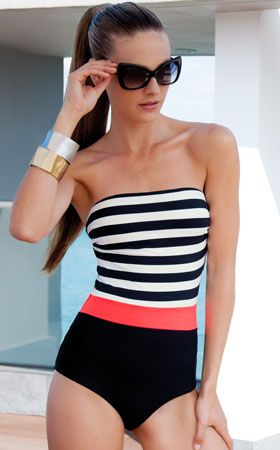 France One Piece Swimsuit by Touche Trends 2014 from #SwimwearBoutique...if only it had some straps.