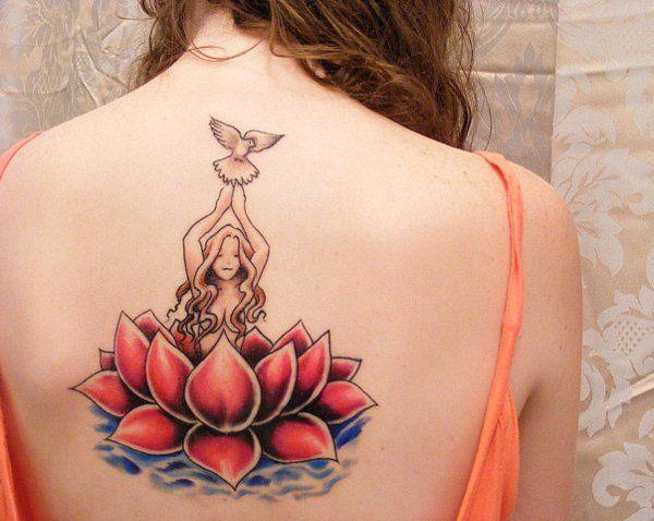 tatuaje de flor paloma