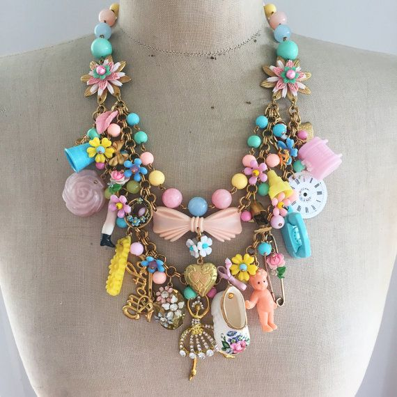 A Mother's Love  Vintage Toy Necklace Flower by CurioJewellery