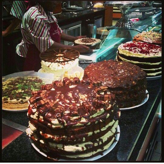 Coffee shop cakes
