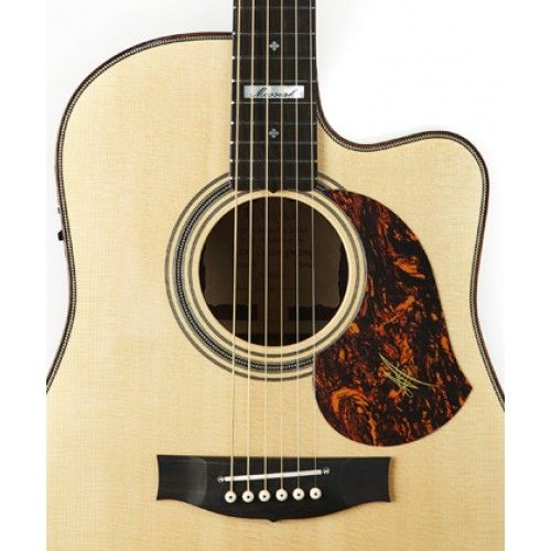 Right Handed Tortoiseshell Pickguard displayed on a Maton Guitar