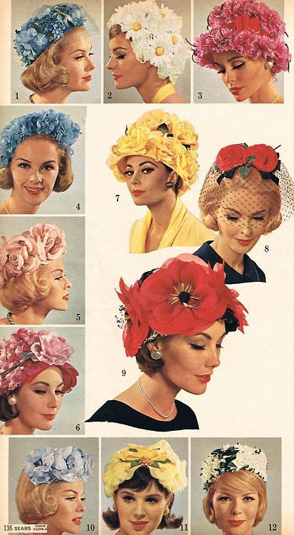 (via Sears hat selection, Spring 1963 | Mad for Mid Mod)