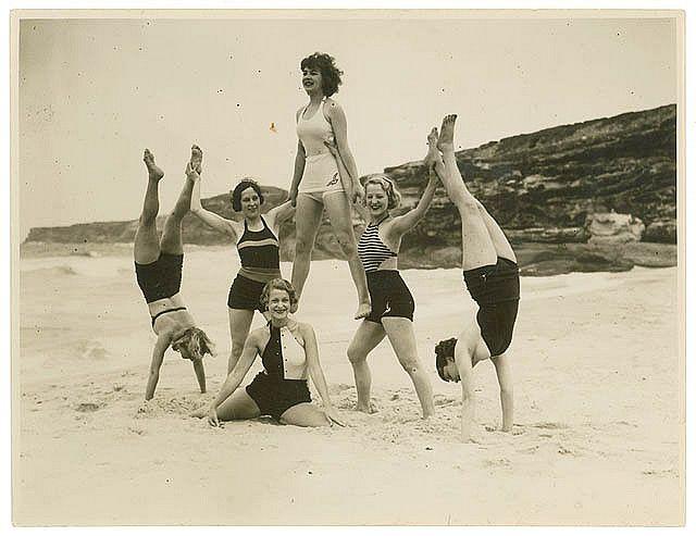Theatre Royal chorus, Tamarama Beach, ca. 1938 / by Sam Hood