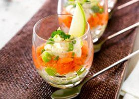 Recept voor Glaasje met gerookte zalm en appel | Solo Open Kitchen