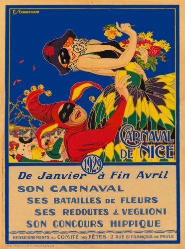 1929-Carnaval-de-Nice-France-Vintage-French-Travel-Advertisement-Poster-Print