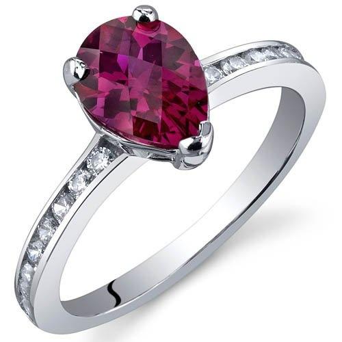 Peora Women's Boldly Glamorous 3.25 Carats London Blue Topaz Ring In Sterling Silver Rhodium Nickel Finish Size 5 09PETC