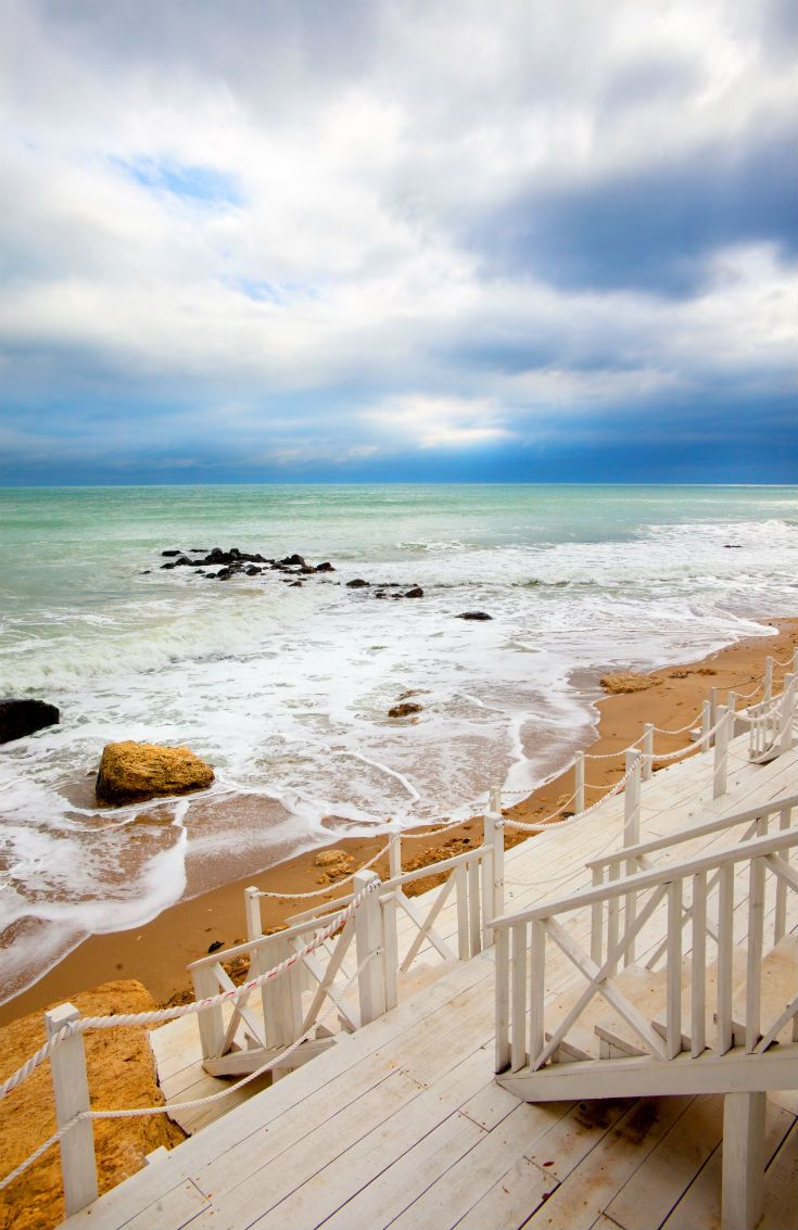 Dip your toes into the Black Sea from the beaches in Varna, just down the road from the Golden Sands resort in Bulgaria. #Bulgaria #Europe
