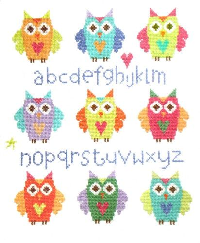 Owl Sampler Cross Stitch Kit