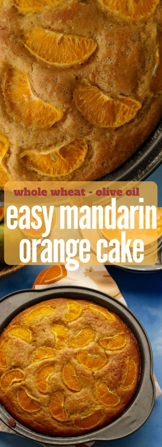 Easy Orange Cake Recipe made using whole wheat flour and olive oil | Mandarin Orange Cake | Easy Orange and olive oil cake made from scratch  . Get the whole recipe on https://www.saffrontrail.com/mandarin-orange-cake/ . #orange #teacake #cake #easybaking #recipe