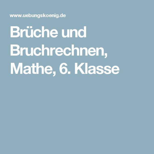 Arbeitsblätter Mit Lösungen Zum Thema Brüche / Bruchrechnen Für Mathe Am  Gymnasium In Der Klasse
