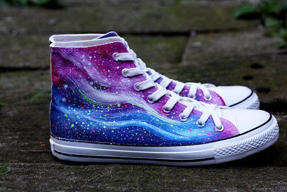 Pintados a mano zapatos de lona zapatos amantes por warmhomeland