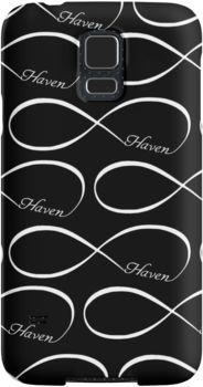 Haven Forever Infinity Symbol White Logo | Haven Syfy Inspired Phone Case/Skins | Snap Cases,Tough Cases, & Skins for Galaxy S3-S4-S5-S6-S6 Edge-S6 Edge Plus-S7-S7Edge | iPhone 4s/4 5c/5s/5 6/6Plus SE/5s/5 & iPhone Wallets **All designs available for all models.