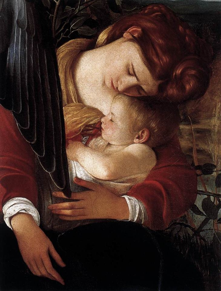 Caravaggio, Rest on Flight to Egypt ( detail ) 1596-97