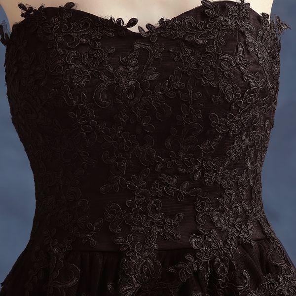 2016 Новых Прибытие Sexy Черный Без Бретелек Кружева Милая Длинные Вечерние Платья Перспектива Невесты Банкетный Плюс Размер Вечернее Платье Пром купить на AliExpress