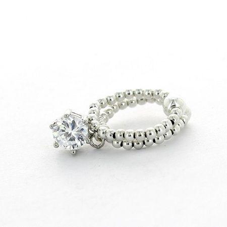 La boutique à Bijoux Paris Chain ring in Silver 925 with Zirconium Crystal close set Size 54 huYmeI3d