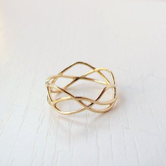 Bague en or remplie Infinity