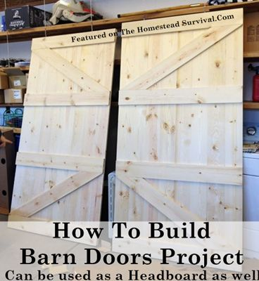 The Homestead Survival | How To Build Barn Doors Project | http://thehomesteadsurvival.com