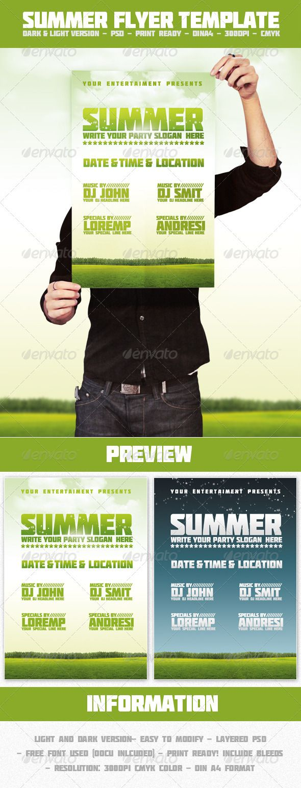 best images about print templates fonts flyer summer flyer template