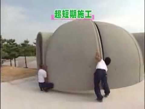 Modular Igloos - Styrofoam Dome Houses (VIDEO)
